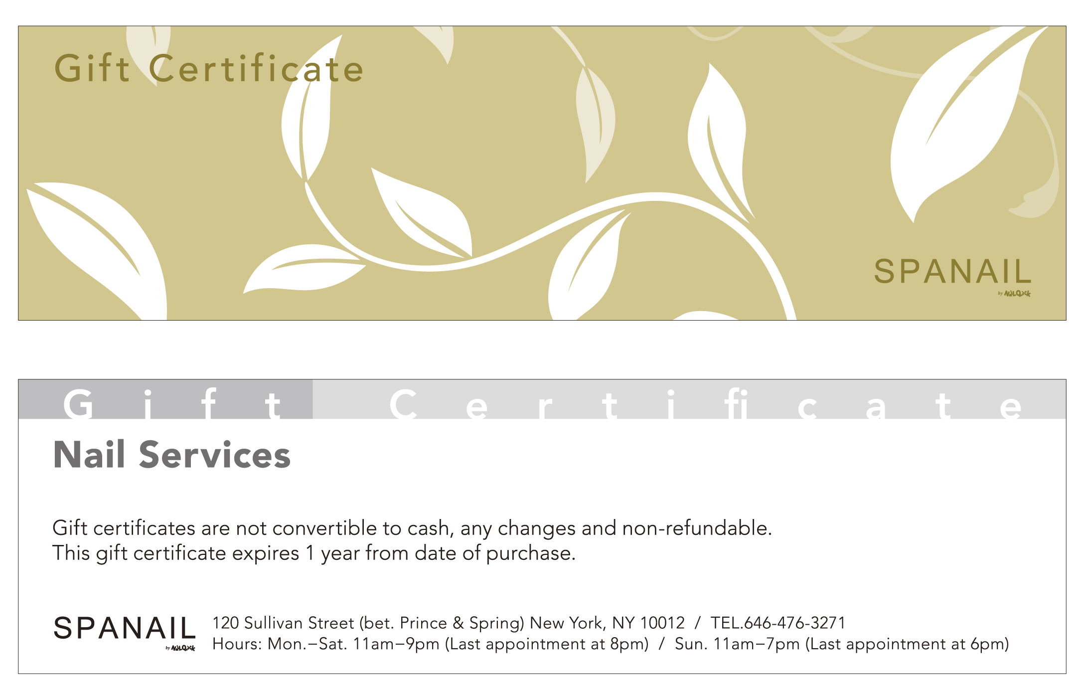 Spanail Gift Certificate