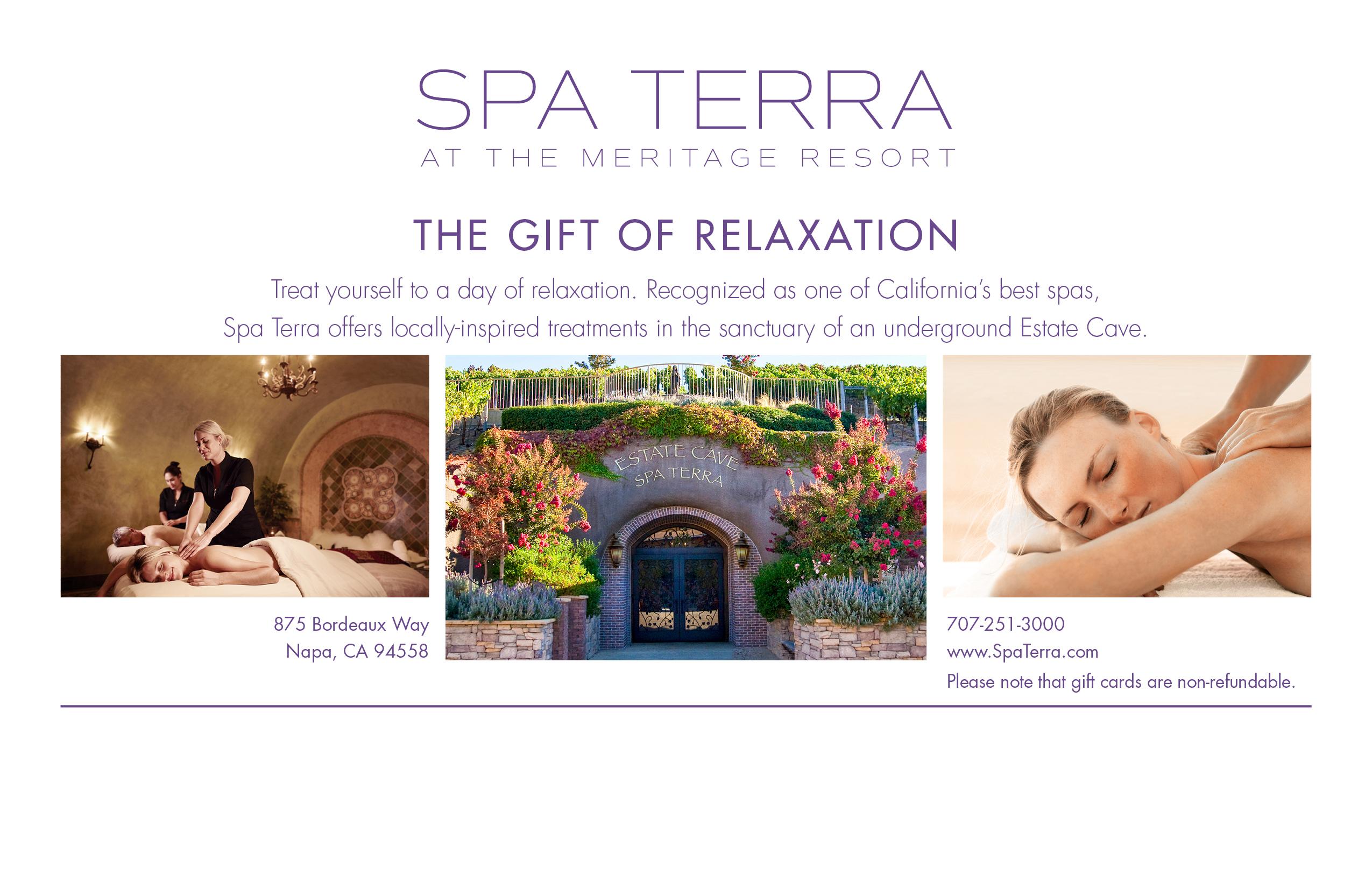 Spa Terra At Meritage Resort Gift Certificate