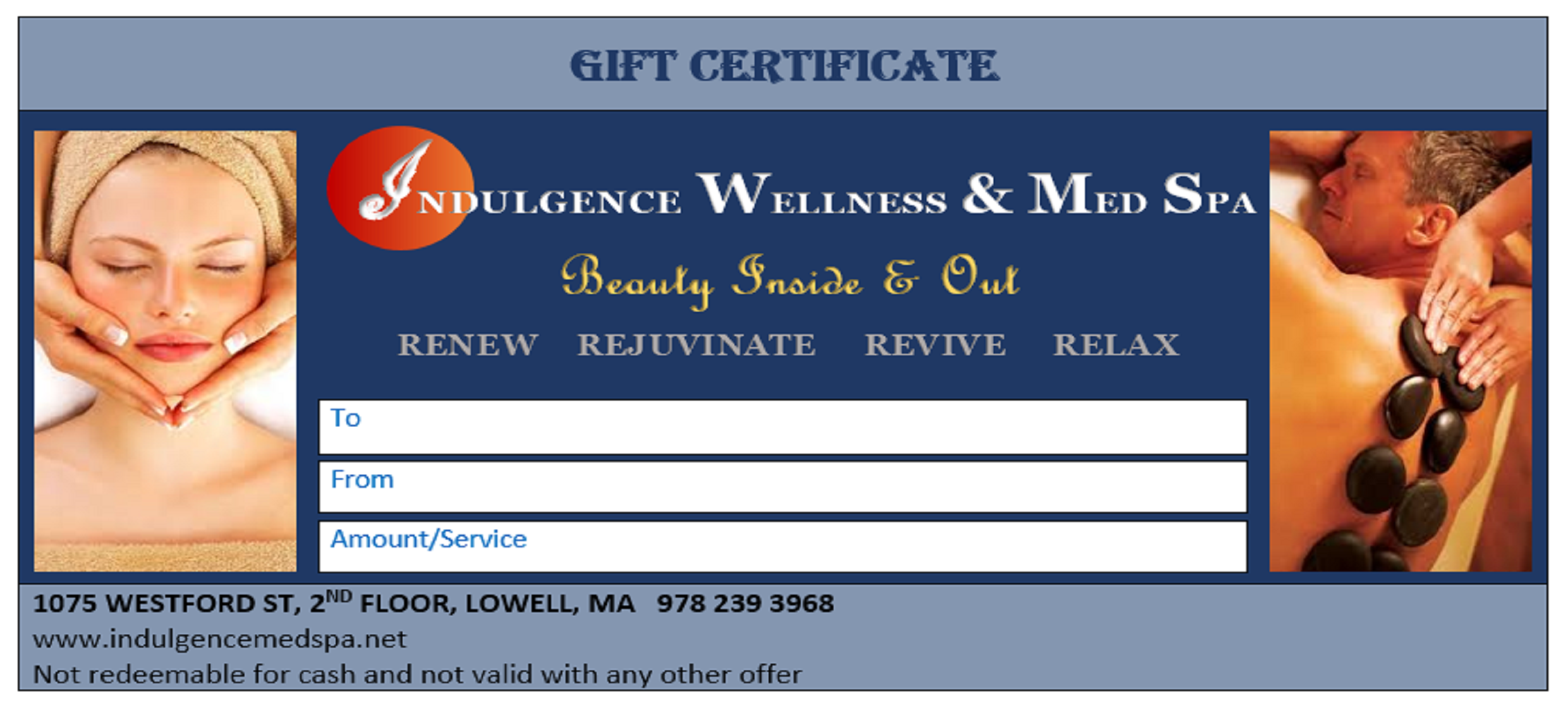 Image of gift certificate template